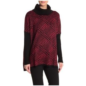 NWT Jospeh A. Printed Cowl Neck Knit Sweater